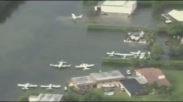 Heavy Rains Cause South Florida Flooding
