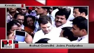 Rahul Gandhi attends Youth Congress padyatra in Kerala