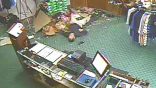 Man Falls Through The Roof Of A Golf Shop