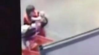 Home Depot Employee Catches Falling Baby