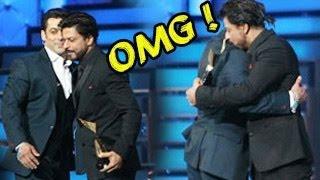 Salman Khan & Shahrukh Khan HUG at Star Guild Awards 2014