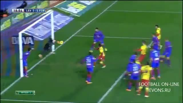 Levante vs Barcelona 1-1 All Goals Highlights HD 19/01/2014