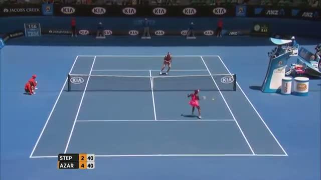 Azarenka and Stephens trade blows - 2014 Australian Open