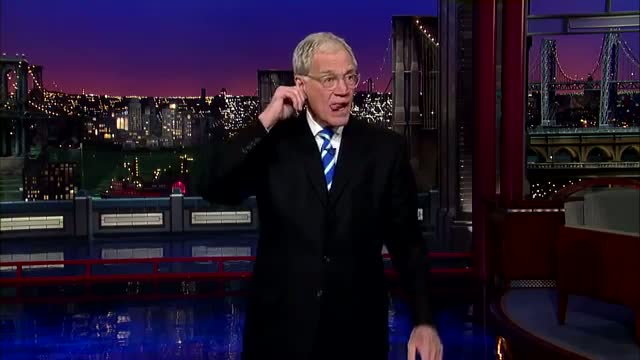 David Letterman - Dave's Monologue - 1/17/14