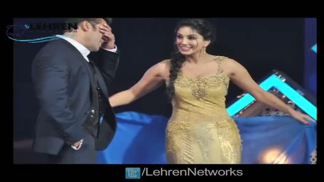 Salman Khan Teaches Sunny Leone To Drape A Saree - Star Guild Awards