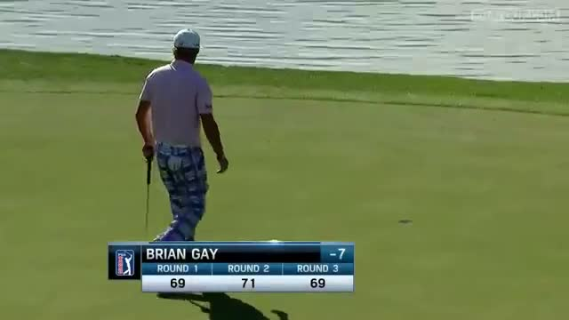 Brian Gay drains long eagle putt at Humana Challenge