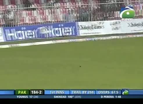 Pak vs SL 3rd Test 2014 - Ahmed Shehzad Batting (Pak 1st Inning)