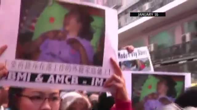 Hong Kong Police Question Maid Abuse Victim