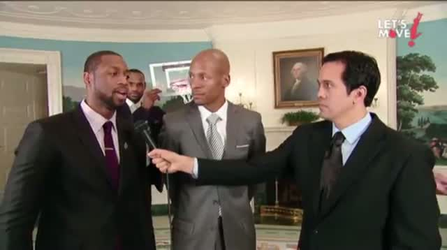 First Lady Dunks, 'Video Bombs' With Lebron