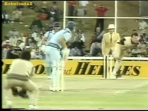 Slowest batsmen ever, hits a six- no joke! Chris Tavare- the tortoise.