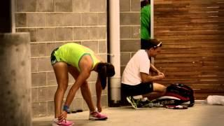 Players warming up behind closed doors - 2014 Australian Open