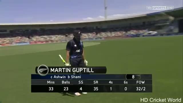 Mohammed Shami 4 Wickets for 55 vs New Zealand 1st ODI Napier - 19 January 2013 - HD Video