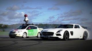 The Stig Vs. Google Street View Car - Top Gear Track now available on Google Maps! - Official Video