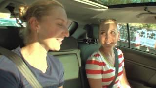 Ekaterina Makarova and Elena Vesnina: Kia Open Drive - 2014 Australian Open Video