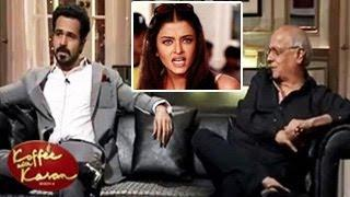 Emraan Hashmi INSULTS Aishwarya Rai Koffee With Karan 26th January 2014 Video