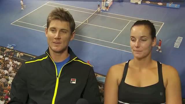 Gajdosova and Ebden interview (semifinal) - 2014 Australian Open Video
