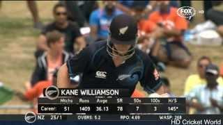 Kane Williamson 77 vs India - 2nd ODI Hamilton - 22 January 2014 Video