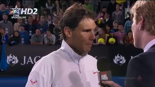 Rafael Nadal interview vs Roger Federer Highlights SF Australian Open 2014