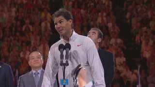 Rafa Nadal's post-final speech - 2014 Australian Open Video