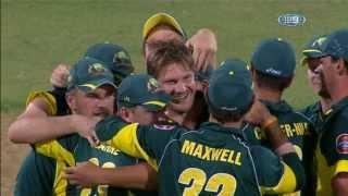 Australia Wickets Taken v England - Aus vs Eng 5th ODI 2014 Adelaide - 26 January 2014