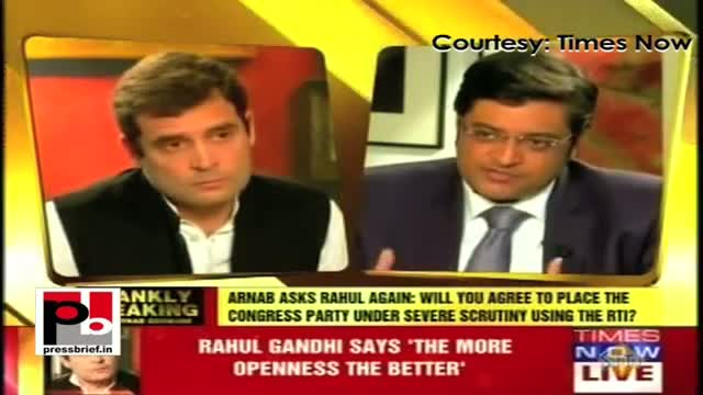 Rahul Gandhi: Political party should come under RTI