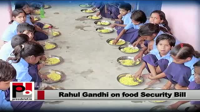 Rahul Gandhi: Congress has given Right To Food