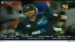 LAST 3 OVERS OF NZ INNING - IND VS NZ 4th ODI - 28/1/2014