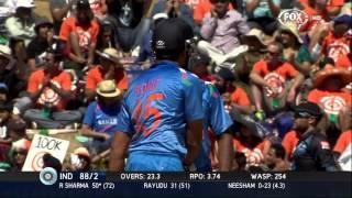Rohit Sharma Innings Of 79 Runs Off 94 Balls - NZ v IND 2014 4th ODI Hamilton - 28 January 2014