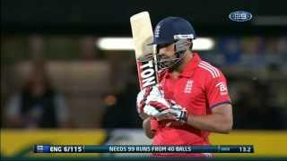 SIXES Hit by Ravi Bopara - Aus v Eng 1st T20I Hobart - 29 January 2014