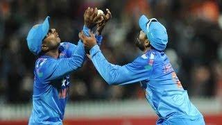 Epic Drop Catch Fail - Jadeja & Rayudu vs New Zealand - IND vs NZ 4th ODI 2014 - 28 January 2014