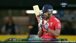 Ravi Bopara 65* off 27 balls vs Australia - AUS vs ENG  1st T20I Hobart 2014