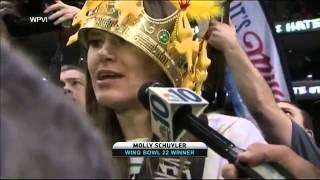 Molly Schuyler eats 363 wings in 30 minutes to shatter Wing Bowl record video