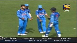 Fall of Wickets of New Zealand Innings - India vs New Zealand 5th ODI - 31 Jan 2014