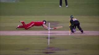 VERY SHARP FIELDING 2 Brilliant Run-Out - AUS vs ENG 2nd T20 2014