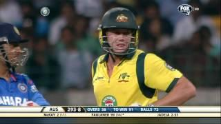 James Faulkner 64* from 29 Balls - AUS vs IND 3rd ODI Mohali -