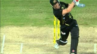 George Bailey Hits 26 Runs Off Final Over - Aus v Eng 2014 3rd T20 2014 Sydney - 2 Febuary 2014