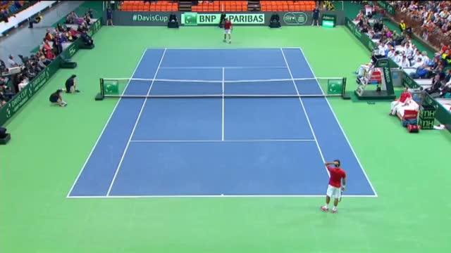 Highlights: Roger Federer (SUI) v Ilija Bozoljac (SRB)