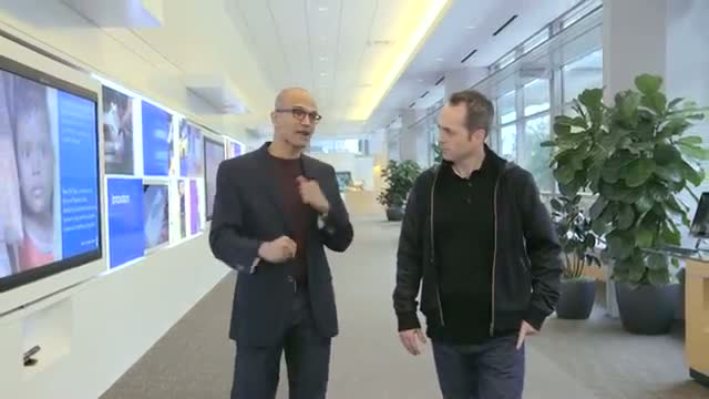 Satya Nadella: His first interview as CEO of Microsoft Video