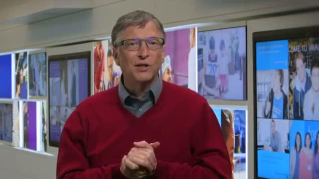 Bill Gates welcomes Satya Nadella as Microsoft CEO Video