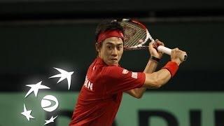 Highlights: Kei Nishikori (JPN) v Frank Dancevic (CAN) Video