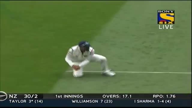 Fall of Wickets of New Zealand Innings - India vs New Zealand - Day 1 - 1st Test 2014