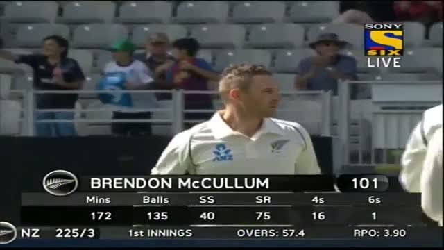 Sixes of New Zealand Innings - India vs New Zealand - Day 1 - 1st Test 2014
