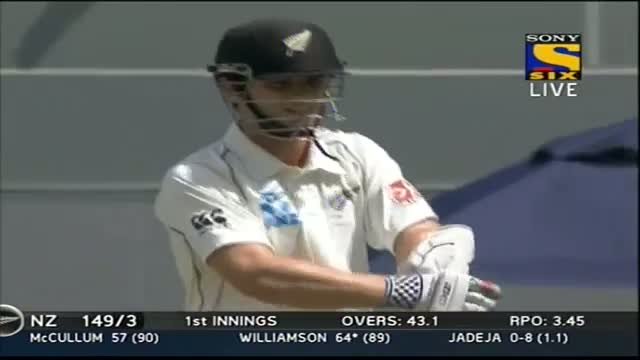 Boundries of New Zealand Innings - India vs New Zealand - Day 1 - 1st Test 2014