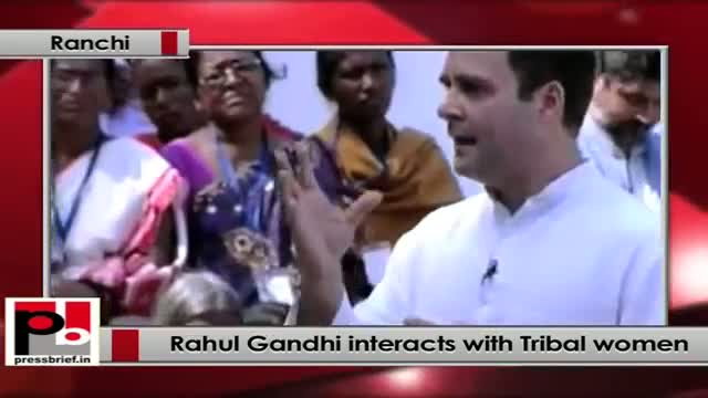 Rahul Gandhi interacts with Tribal women in Ranchi, says women empowement must for development