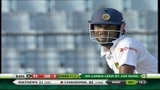 Chandimal scores 3rd test ton, 2nd against Bangladesh (Bangladesh vs Sri Lanka 2014 - 2nd Test) Video