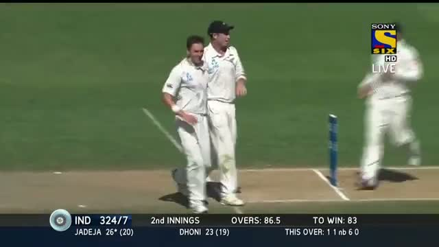 Wickets - IND vs NZ 1st Test 2014 - Day 4