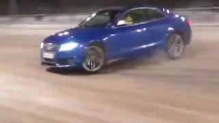 Audi R5 Snow Drifting Fail