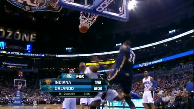 NBA: Paul George Throws Down On Top of Big Baby Davis