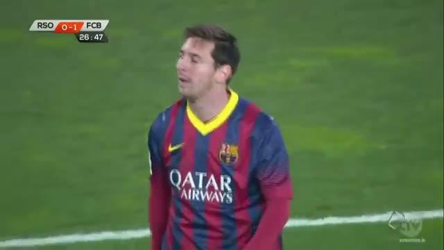 Lionel Messi Amazing Goal vs Real Sociedad - Barcelona Vs Real Sociedad 1-1 All Goals 2/12/2014