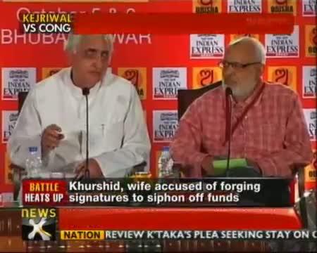 Arvind Kejriwal demands Salman Khurshid's resignation